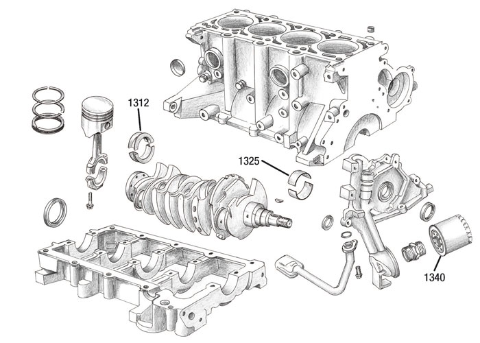 02 Engine lower Jeep, Wrangler, Cherokee, Grand Cherokee