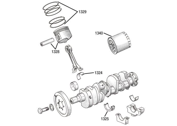 02 Engine lower Jeep, Wrangler, Cherokee, Grand Cherokee