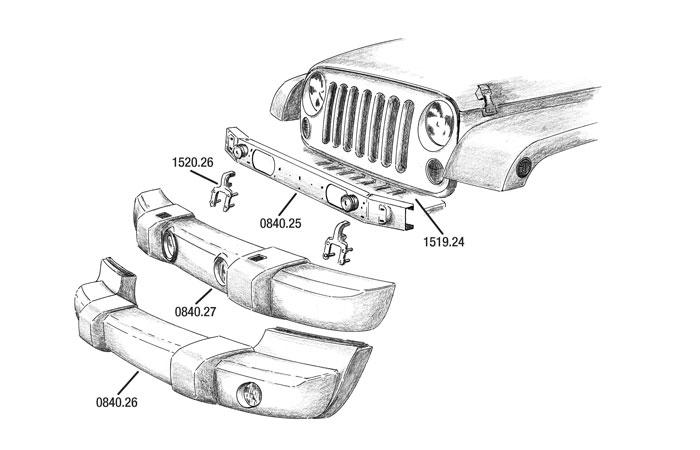 02 Bumper JK Jeep, Wrangler, Cherokee, Grand Cherokee