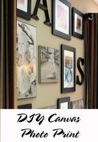 Canvas Photo Prints - DIY with Mod Podge