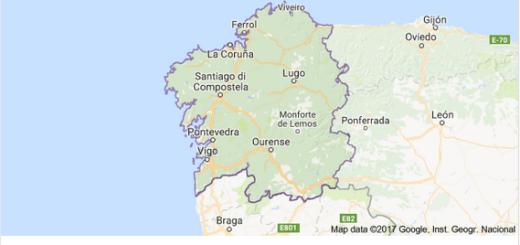 mappa Galizia Google