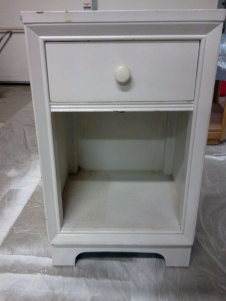 Refurbished Nightstand Makeover