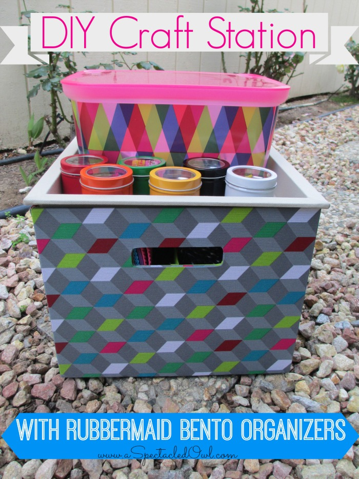 Creating a DIY Craft Station with Rubbermaid Bento Organizers