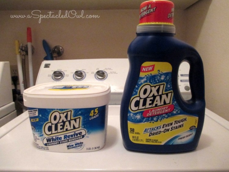 OxiClean Laundry Detergent & OxiClean White Revive Laundry Stain Remover