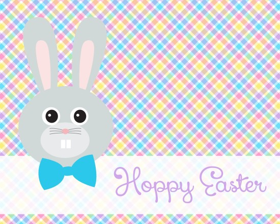 """Hoppy Easter"" - Easter Bunny Printable"