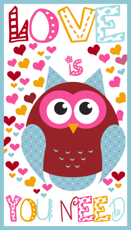 Owl Printable Valentines Day Cards A Spectacled Owl – Owl Valentines Day Cards