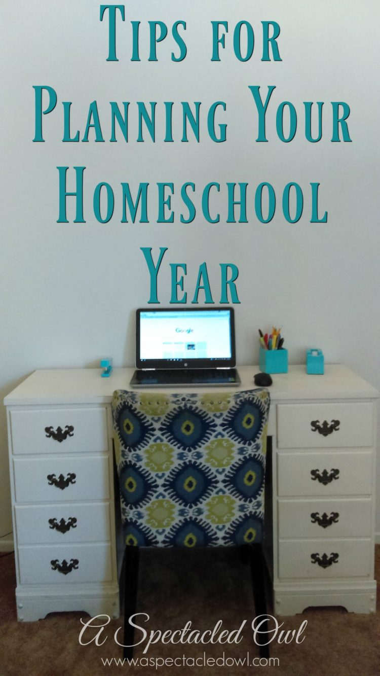 Tips for Planning Your Homeschool Year