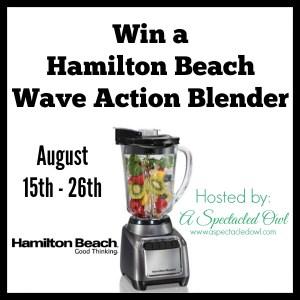 Hamilton Beach Wave Action Blender – Review & Giveaway