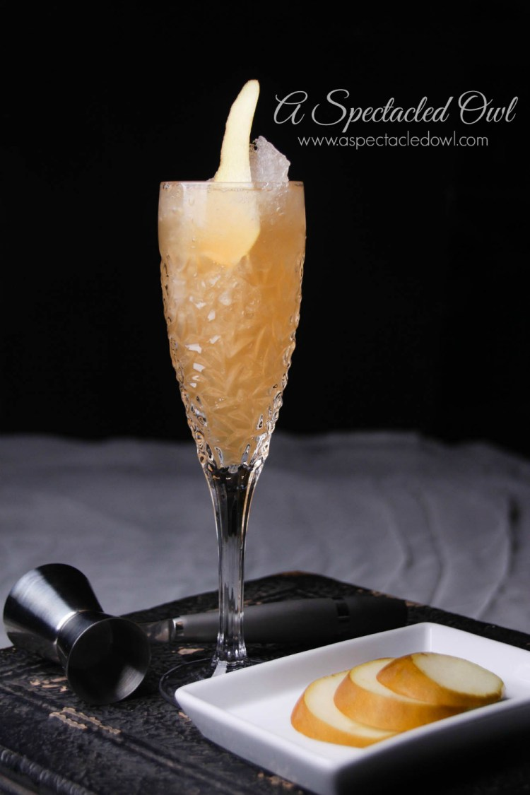 Golden Pear Champagne Cocktail