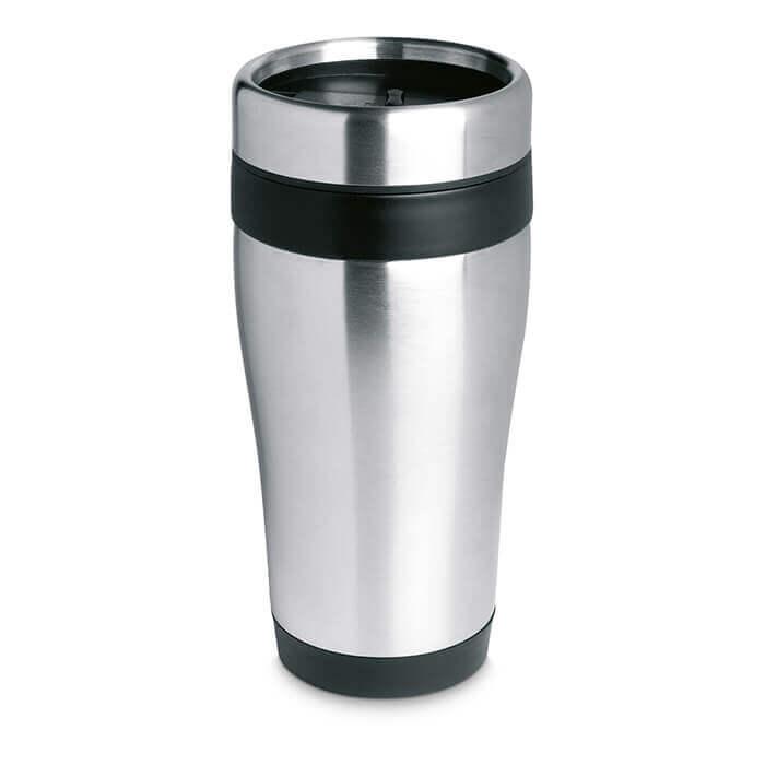 steel metal travel mug