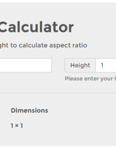 also aspect ratio calculator to get for your images or videos rh aspectratiocalculator