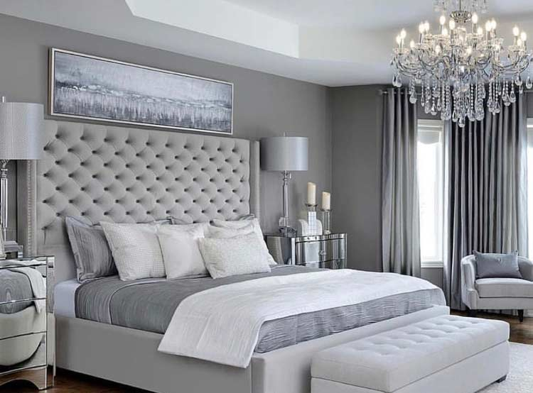 25 stunning grey and silver bedroom