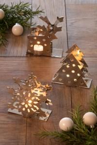 Christmas Tea Light Holder - Christmas Lights Card and Decore