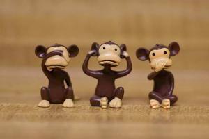 Monkeys see no evil hear no evil speak no evil