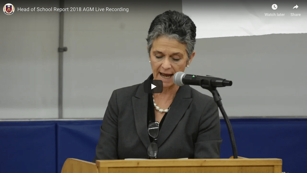 Head of School's Address at Annual General Meeting