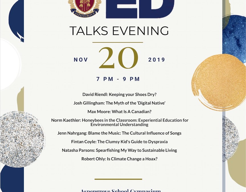 Join us for Ed Talks on Wednesday