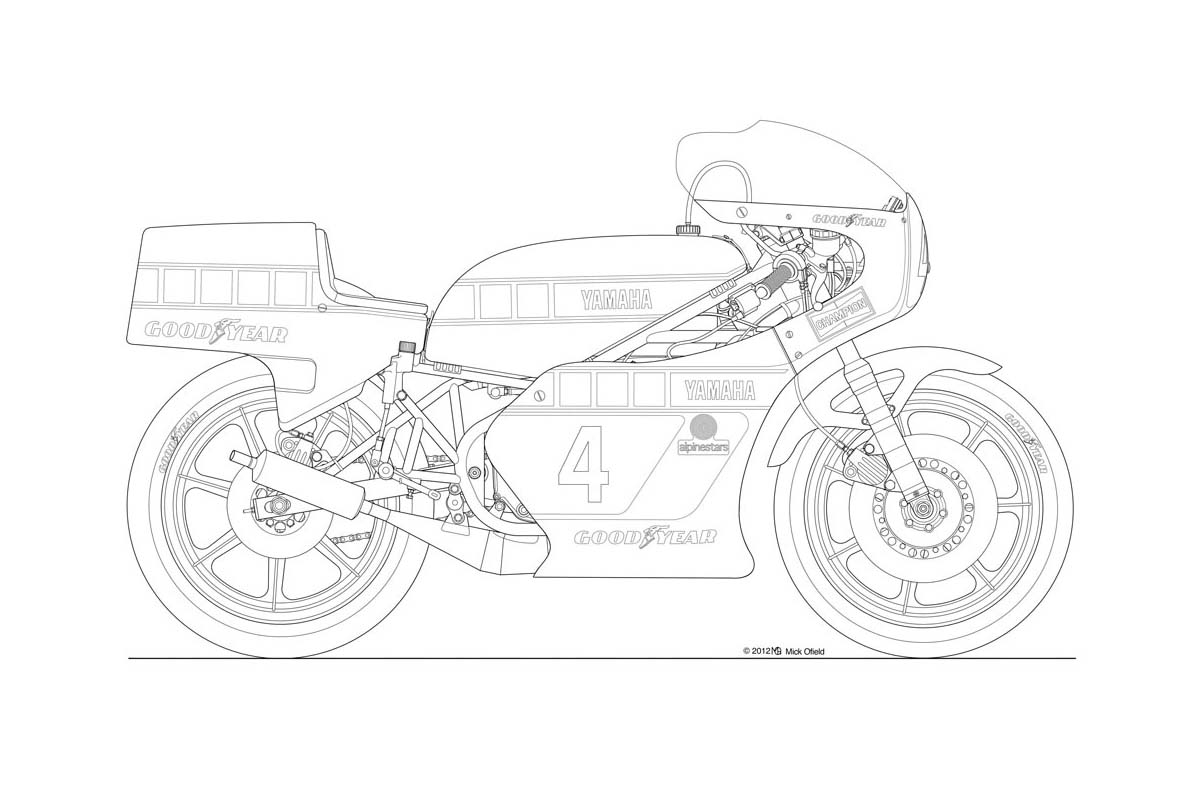 Motorcycle: Motorcycle Drawing