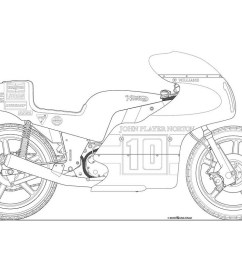 motorcycle line drawing 07 [ 1200 x 800 Pixel ]