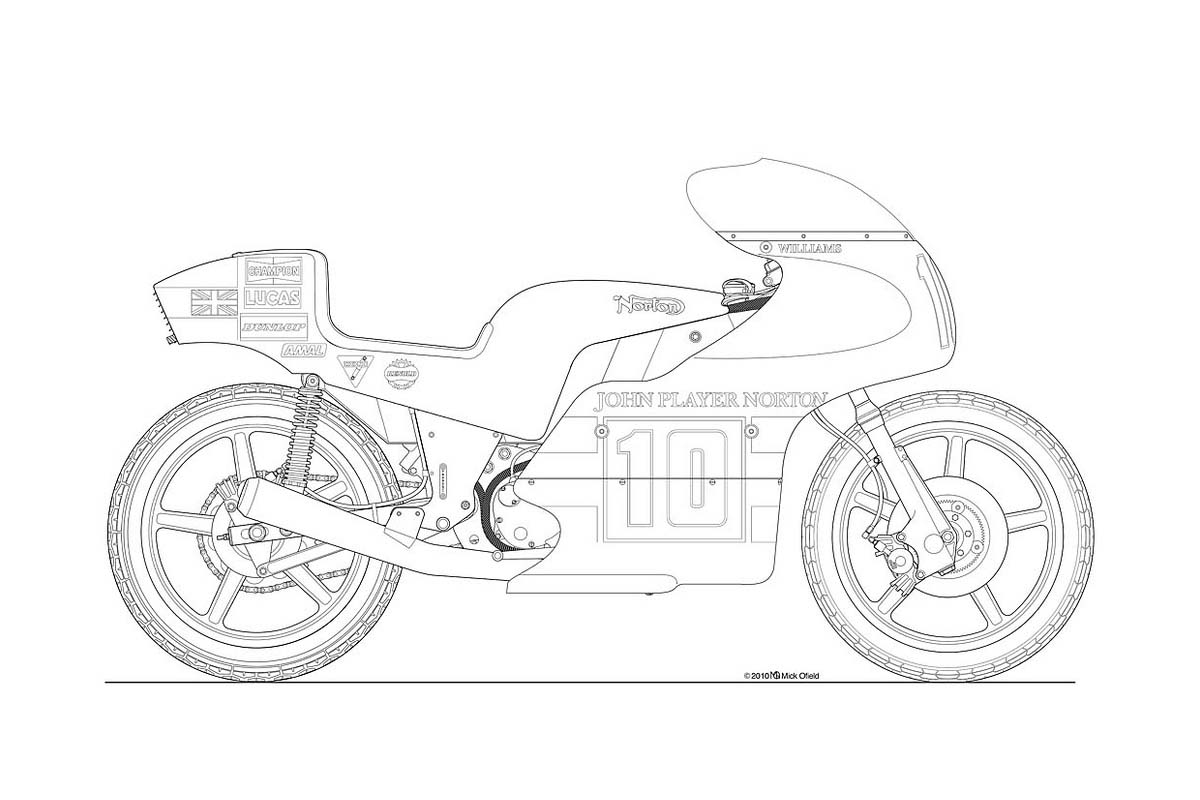 hight resolution of motorcycle line drawing 07