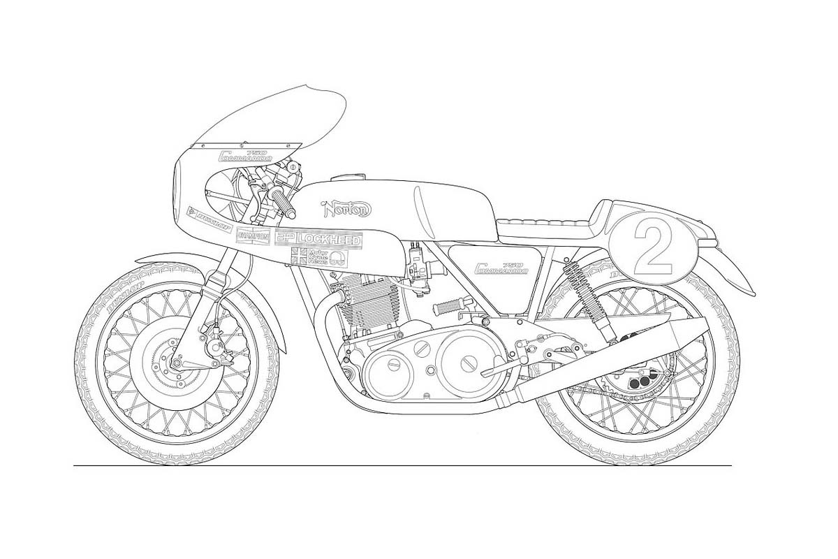 Photos: Some Classic Motorcycle Line Art Drawings
