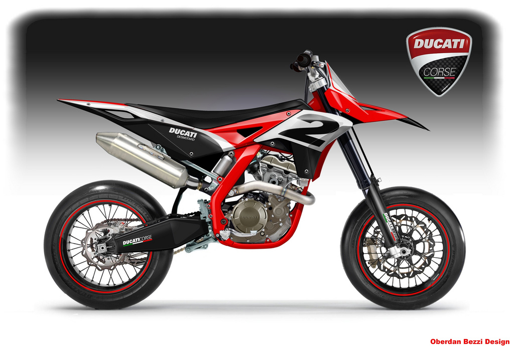 Bezzi Imagines Ducati Dirt Supermotard Bikes Asphalt