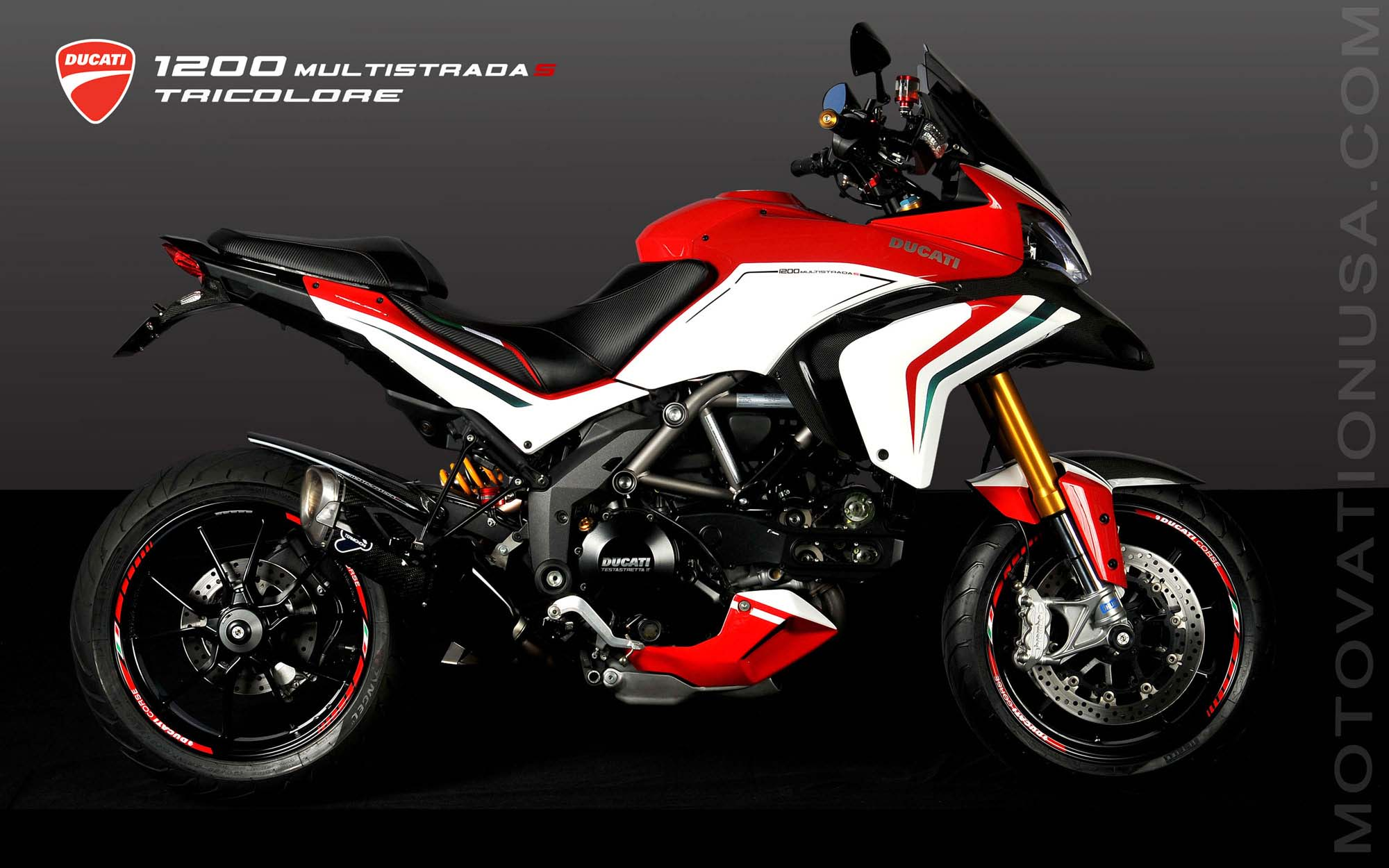 ducati multistrada 1200 s tricolore by motovation. Black Bedroom Furniture Sets. Home Design Ideas