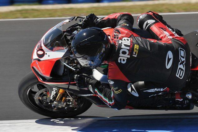 Sylvain-Guintoli-Aprilia-Racing-WSBK-Phillip-Island