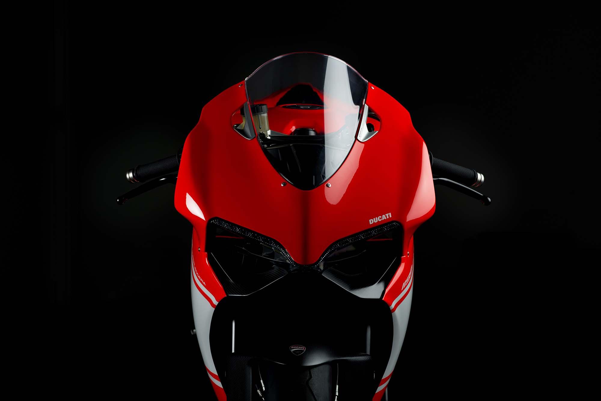 A Ducati 1299 Superleggera With A Carbon Fiber Frame