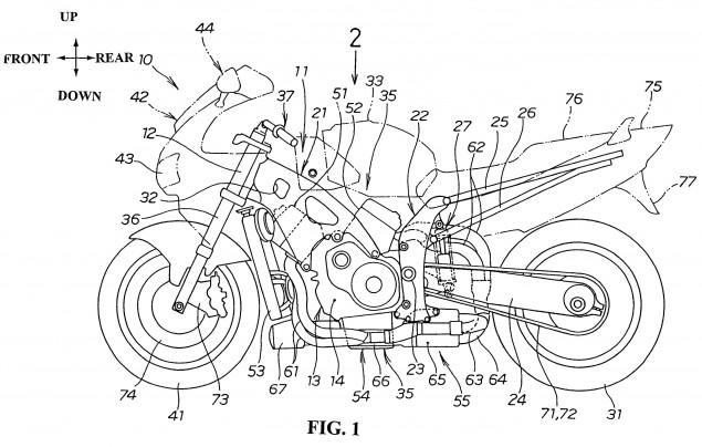 Honda-motorcycle-monocoque-chassis-design-patent-01