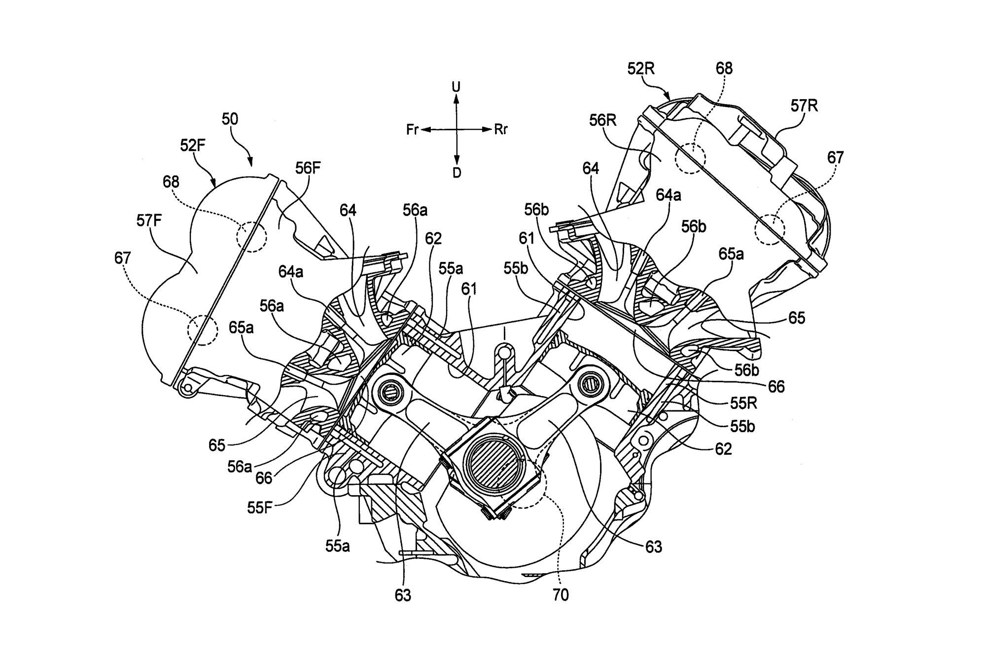 ducati engine diagrams honda v4 superbike engine outed in patent photos asphalt   rubber  honda v4 superbike engine outed in