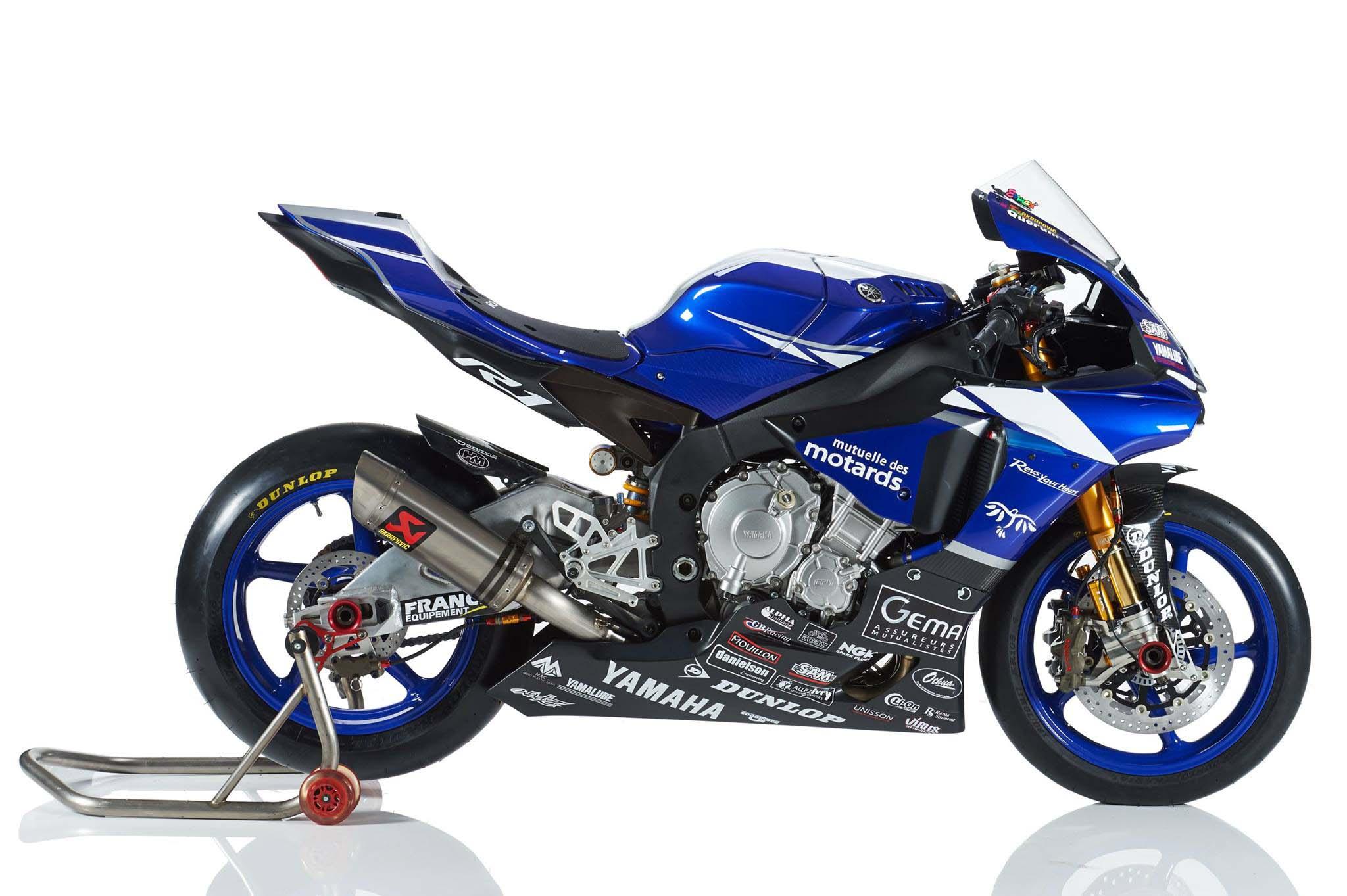 xxx the 2015 yamaha yzfr1 world endurance race bike is