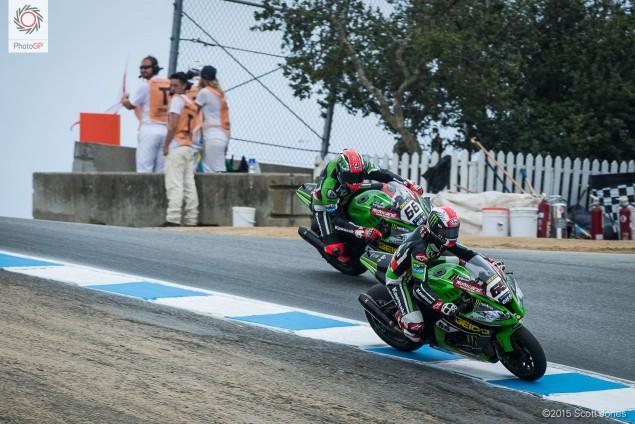 Jonathan Rea Kawasaki corckscrew WSBK Laguna Seca