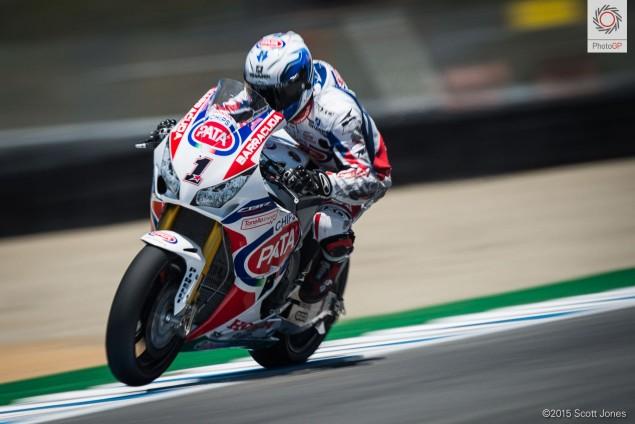 Sylvain Guintoli Honda WSBK 2015 Laguna Seca