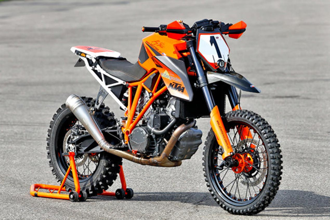 A KTM 1290 Super Duke R Dirt Bike