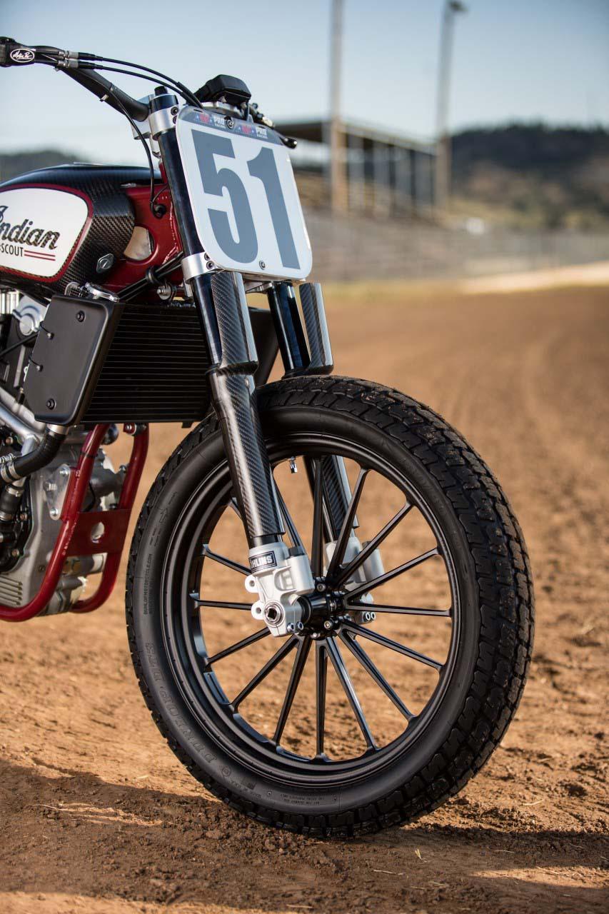 Harley Flat Track >> Indian Scout FTR750 Flat Track Race Bike Debuts