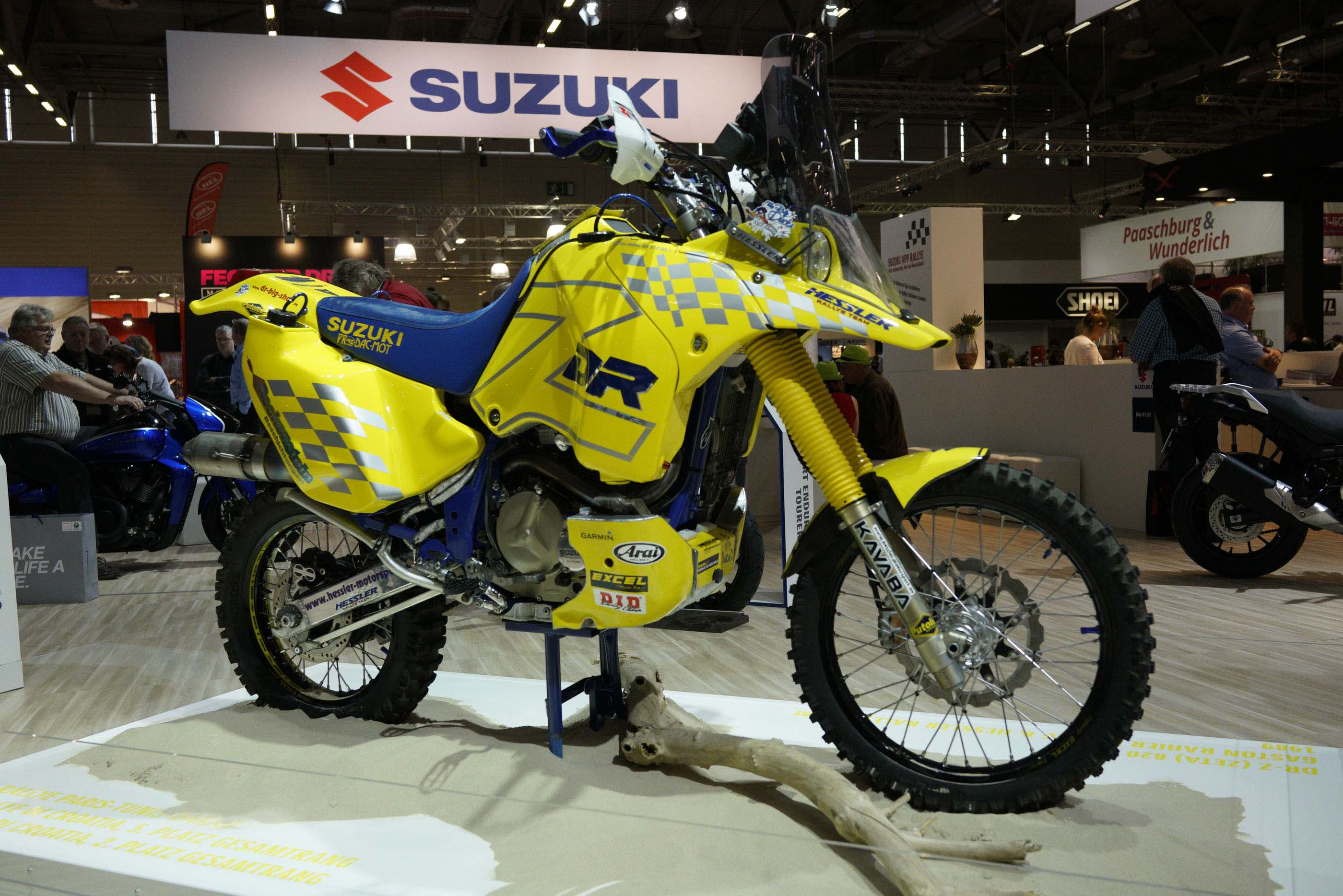checkout this historic suzuki dr z dakar rally race bike. Black Bedroom Furniture Sets. Home Design Ideas