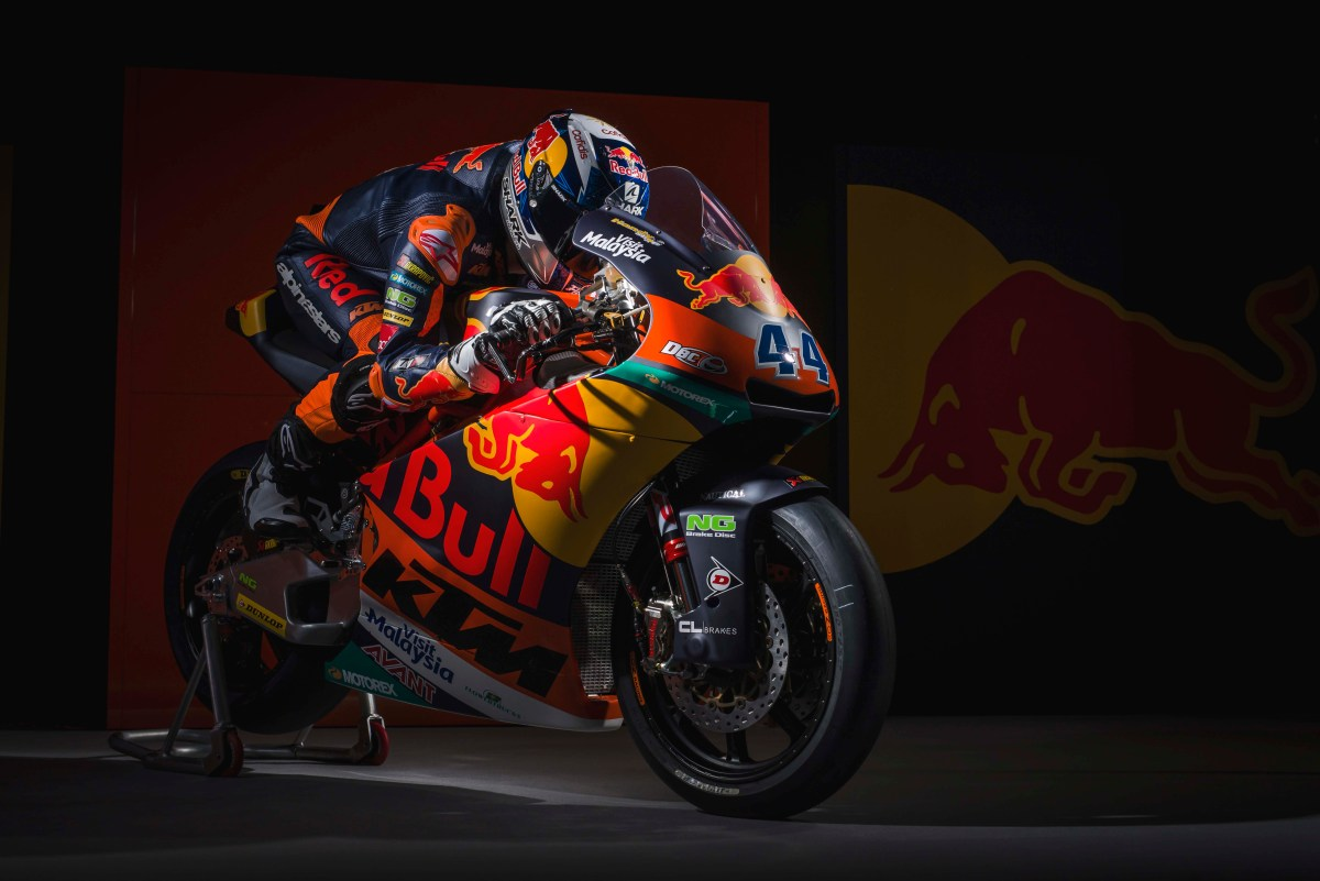 Moody Photos of the KTM Moto2 Race Bike