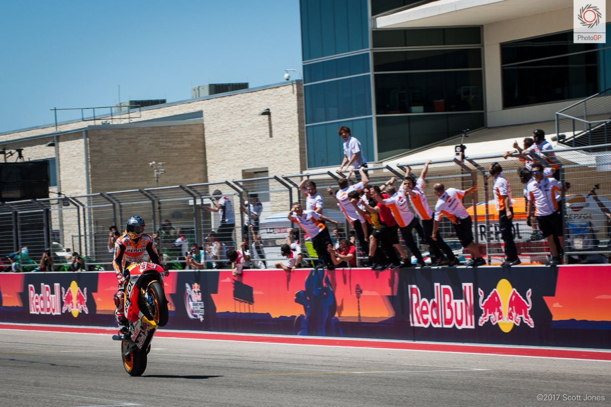 Sunday MotoGP Summary at Austin: Leaders Crashing, And Rossi vs. Zarco