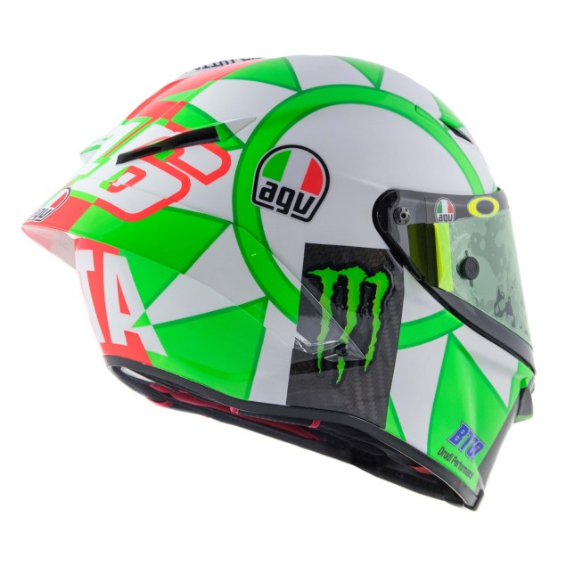 Valentino Rossi's 2018 Mugello AGV Helmet - Asphalt & Rubber