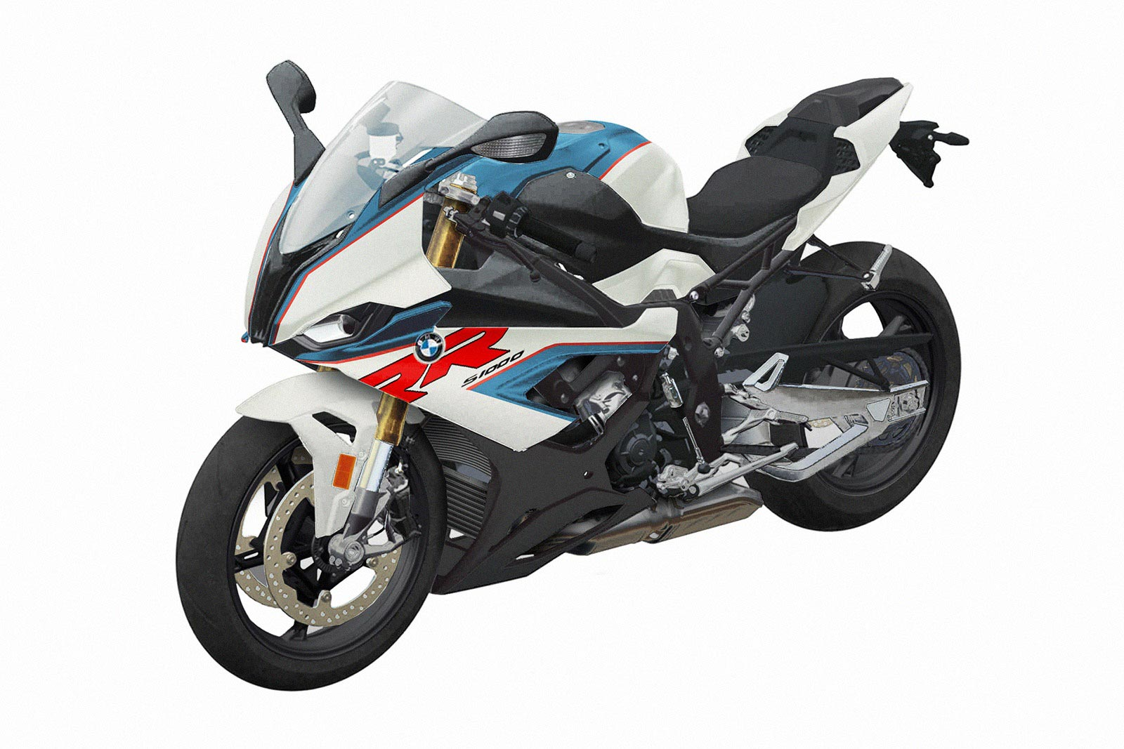 Here S The 2019 Bmw S1000rr Now With Some Color Asphalt Rubber
