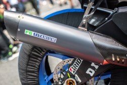Full titanium exhausts are standard at the Suzuka 8-Hours, as are copious amounts of carbon fiber.