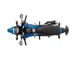 2022 Honda Grom Candy Blue Overhead