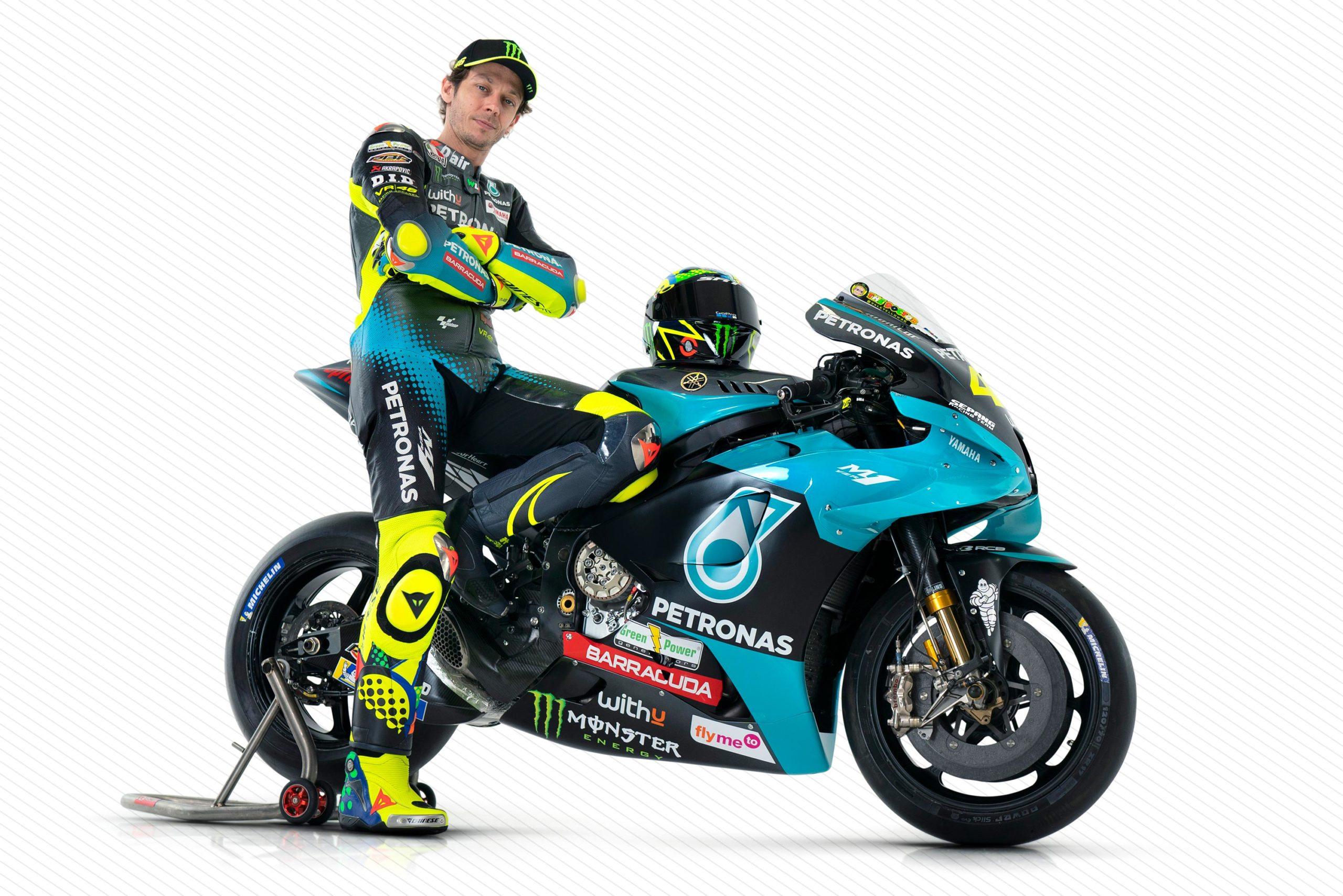 Новый заезд Валентино Росси представлен на презентации гоночной команды Petronas Sepang Racing Team Yamaha