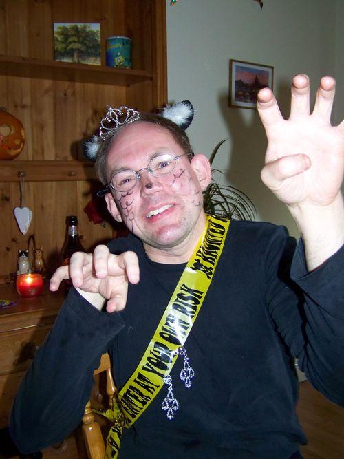 Tim in a Halloween cat costume