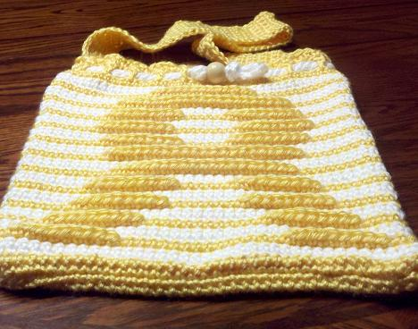 Endometriosis Awareness Ribbon Crochet Hot water Bottle Pattern