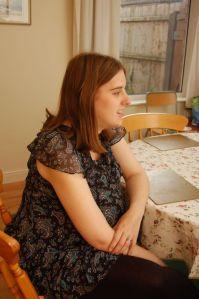 Amanda at 34 weeks pregnant