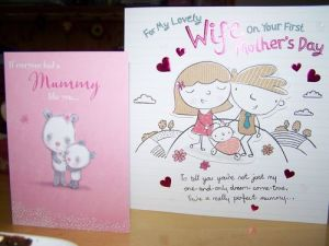 First Mother's Day cards