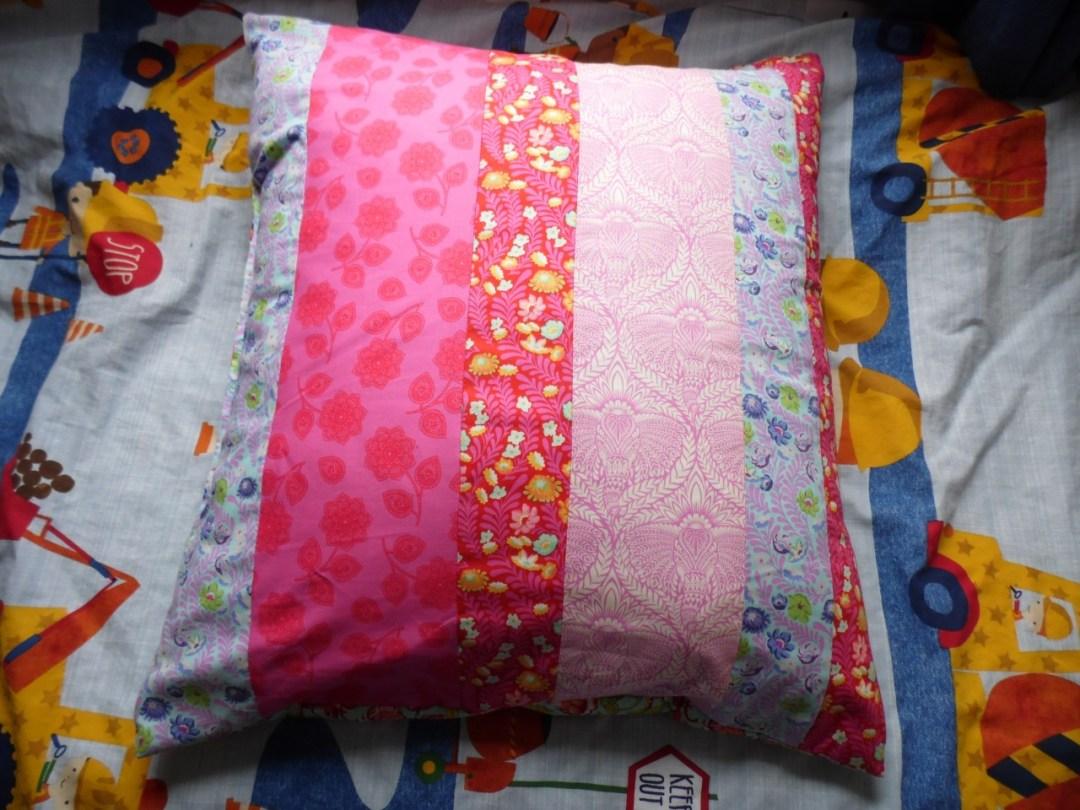 Front of Floor Pillow using Coats Crafts Fabrics