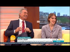 Screenshot of Amanda on Good Morning Britain