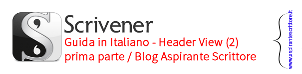 Scrivener guida italiano: Header View - prima parte (2)